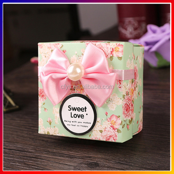 Custom Whole Wedding Favour Bo Paper Material Luxury Chocolate Packaging