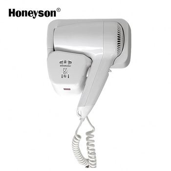 Honeyson Hotel Wall Mounted Hair Dryer Holder With Shaver Socket
