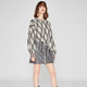 Cable Knit Alpaca Fringed Poncho Sweater With Sleeves