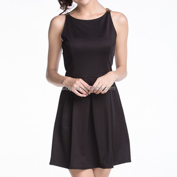 Lange zwarte jurk Porn