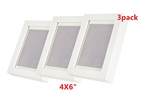 "Ribba 4 X 6"" Picture Frame. white. Set of 3 Glass"