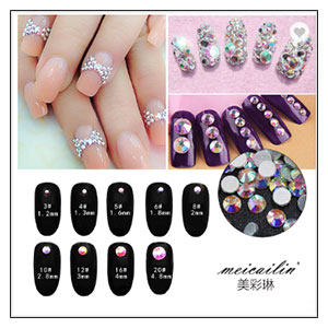 Shining Nail Sequin Lucky Star/Maan/Hart DIY Paillette Nail Art Decor 3D Beauty Vlokken
