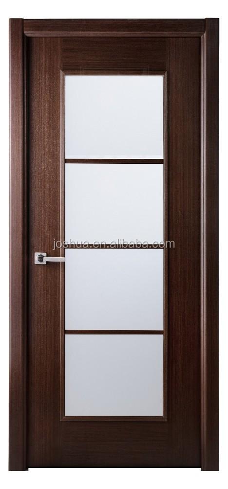 30 X 80 Lux Wengu Marr N Interior Puerta De Madera Vidrio Esmerilado W Frame Puertas