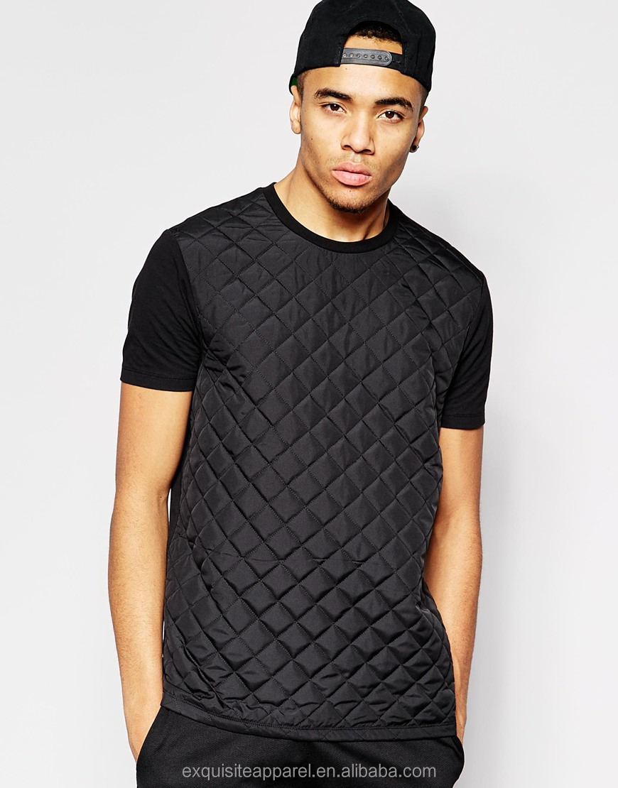 2015 Grid Quilted T Shirt For Men T Shirt In Black Color T Shirt Hot