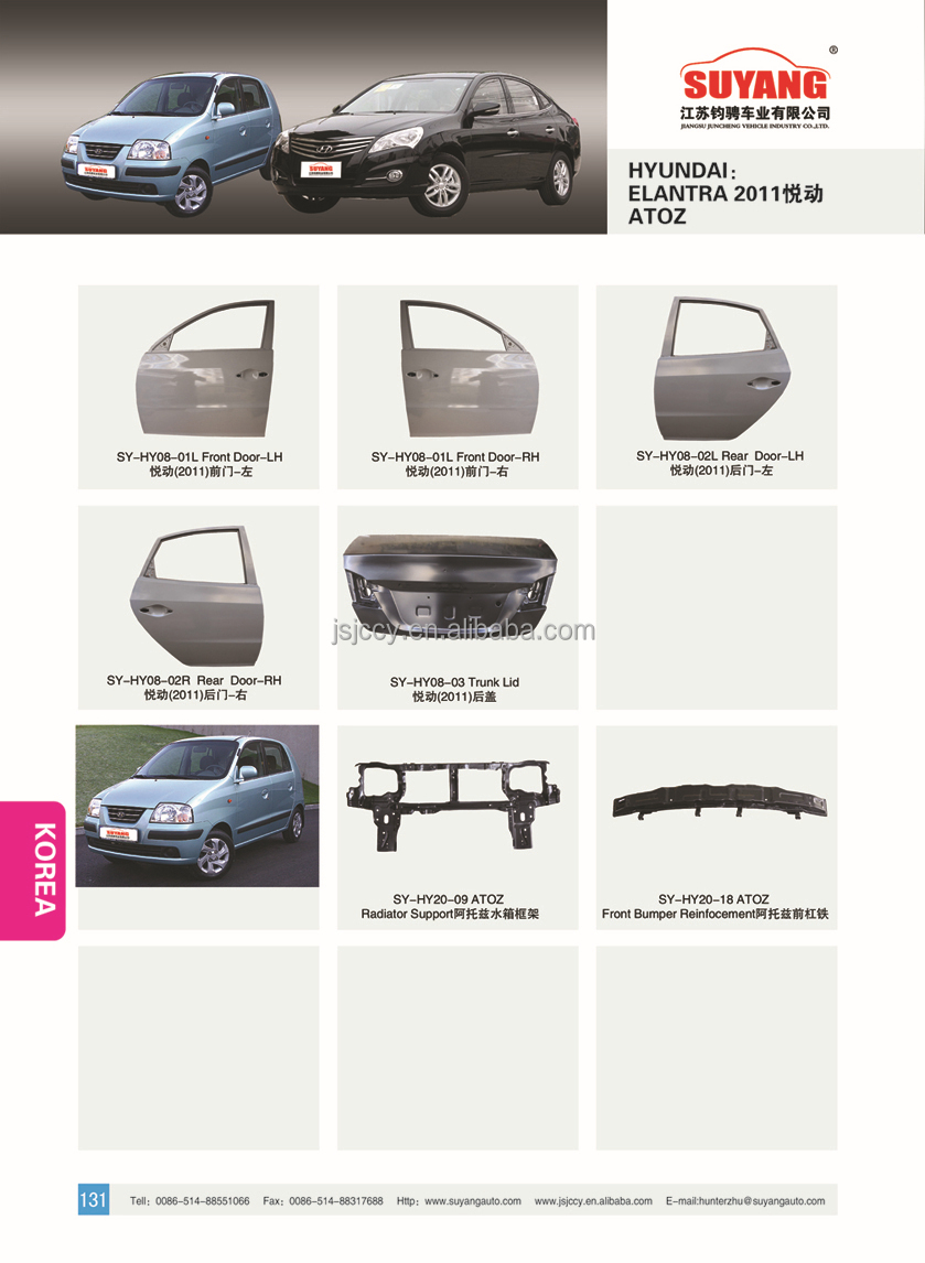 Hyundai sonata nfc aftermarket good quality car side panel rear fender