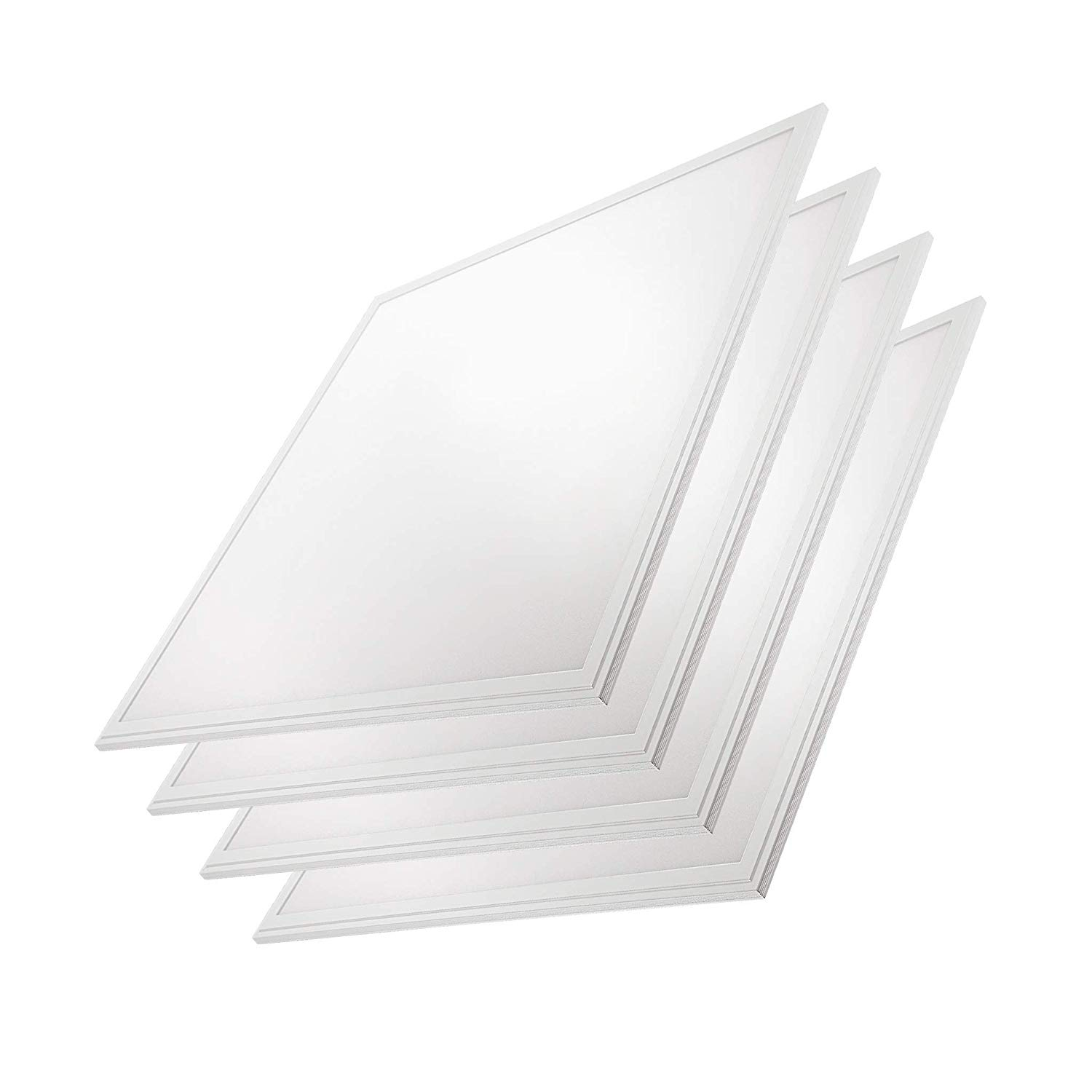 "2x2 Panel Troffer Edge-Lit Flat (4 PACK) 24"" x 24"" 40W; 4,600 Lumens= 115lm/w 120V-277V; 0-10V Dimmable; 5 Year Warranty; UL/DLC Listed; Day Light 5000K"