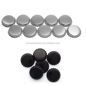 26mm Black aluminium crown cap for beer glass bottle