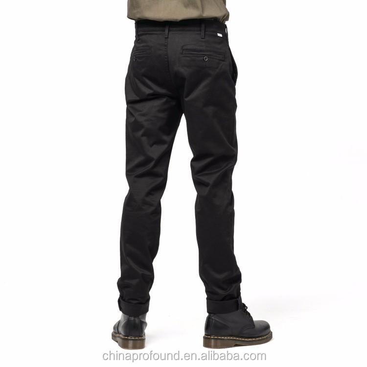 eaa320632f2 Хлопковые брюки новый дизайн мужские черные повседневные брюки Slim fit  узкие ноги мужские брюки пользовательские оптом