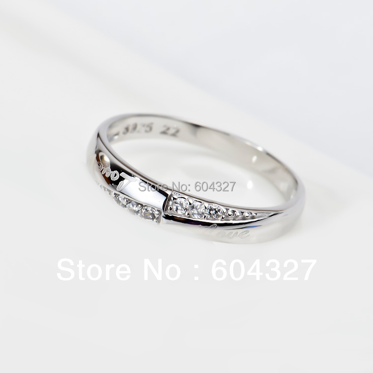Free Shipping 1PC Wholesale 925 Sterling Silver Love Ring Top Quality Fine Sterling Silver Jewelry GNJ0175