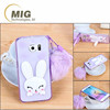 Transparent colorful Rabbit ear style mobile phone case for iphone 6s case , fashional handfree cute cell phone case for iphone
