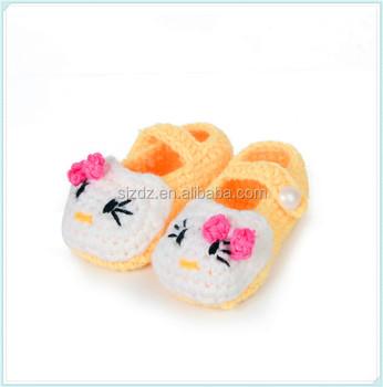 Cute Hello Kitty Pattern Crochet Baby Shoes Mutil Color Crochet Baby