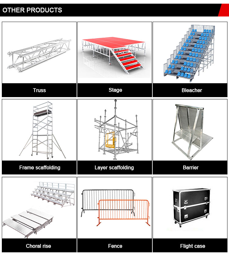 Manufacturer Price Galvanized Layer Truss For Line Array Aluminium Mobile Scaffold Tower