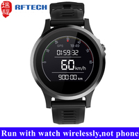 GPS running waterproof bluetooth wrist watch mp3 player built-in 8GB TF card wireless play music from watch