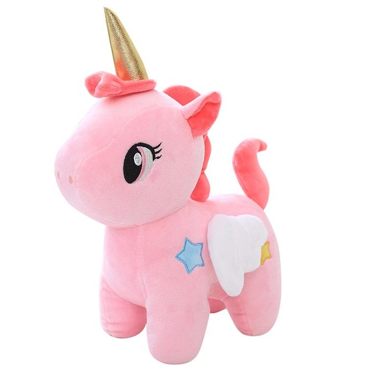 Wholesale Stuff Plush Sleeping Pink Soft Rainbow Unicorn