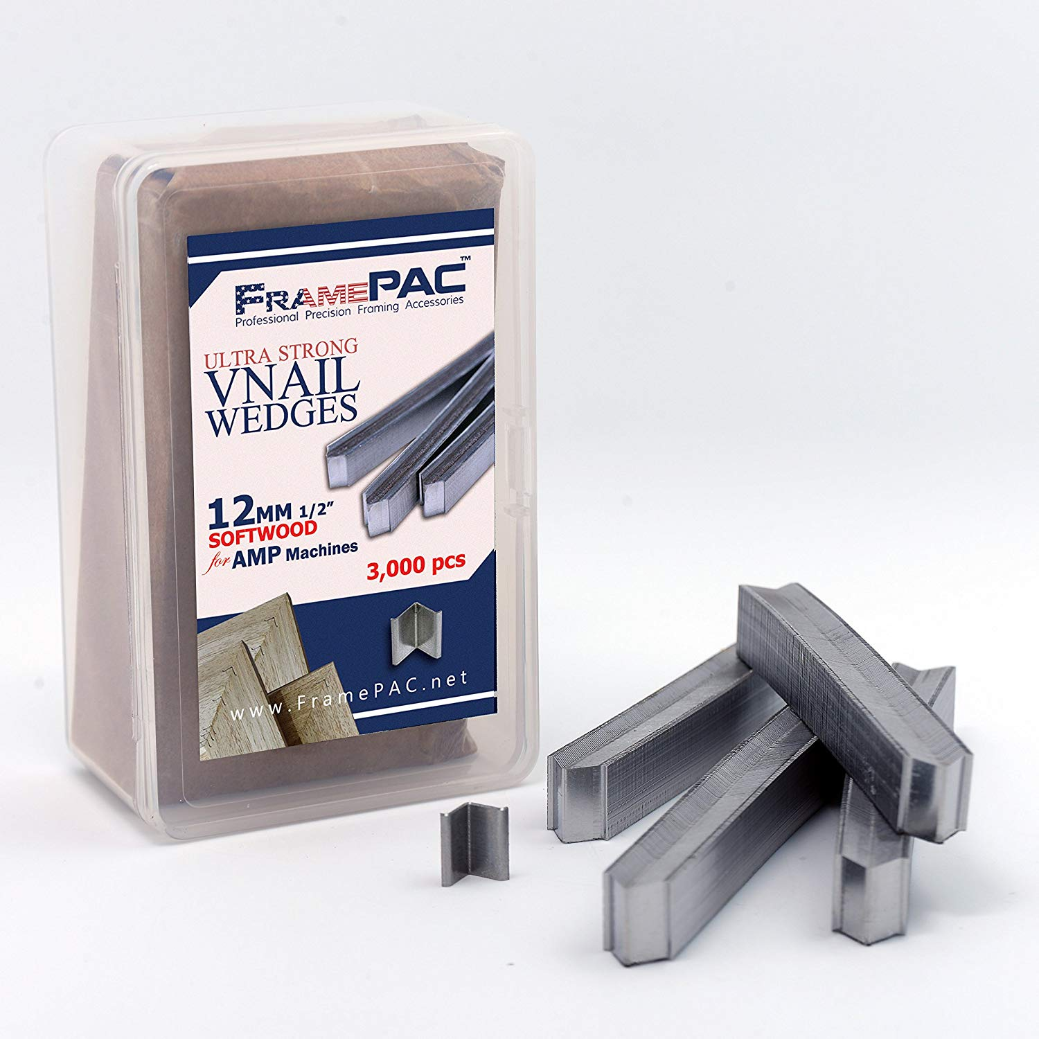 """3//8/"""" Depth Offset Mounting Canvas Z Clips For Picture Framing - #6 X 3//8..."""