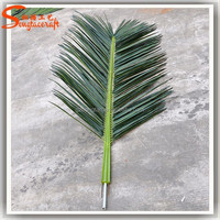 wholesale artificial leaves green palm tree names of tree leaves plastic decorative dried palm leaves