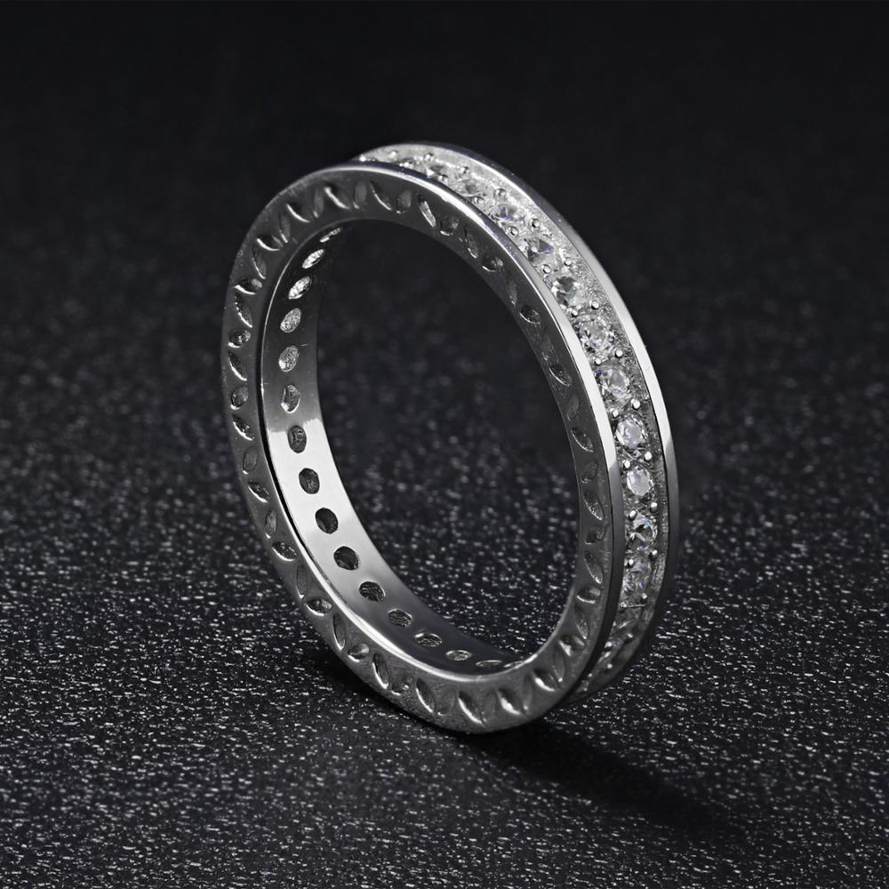 New Arrival 925 Sterling Silver Wedding Diamond Engagement Design Women Eternity Ring
