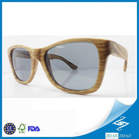 Eco-friendly Natural OEM Handcrafted Zebra Wood Sunglasses Nose Bump Wooden Eyeglasses