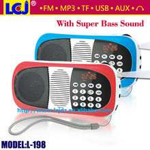 L-198 digital mp3 player manual,rechargeable mp3 player with built in speaker