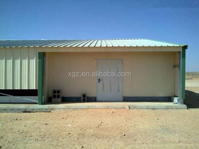cheap prefab poultry house steel chicken shed with automic feeding