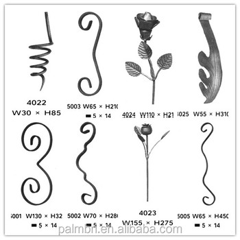 factory supply creative wrought iron grills and rosettes for fencing gates and stairs on sale