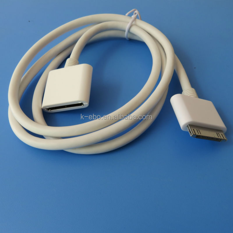 30 PIN Dock Extender Extension Cable Cord for apple iPhone 4 3G 3GS