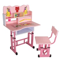 Gas spring lift table sit stand desk adjustable height table children kids study desk
