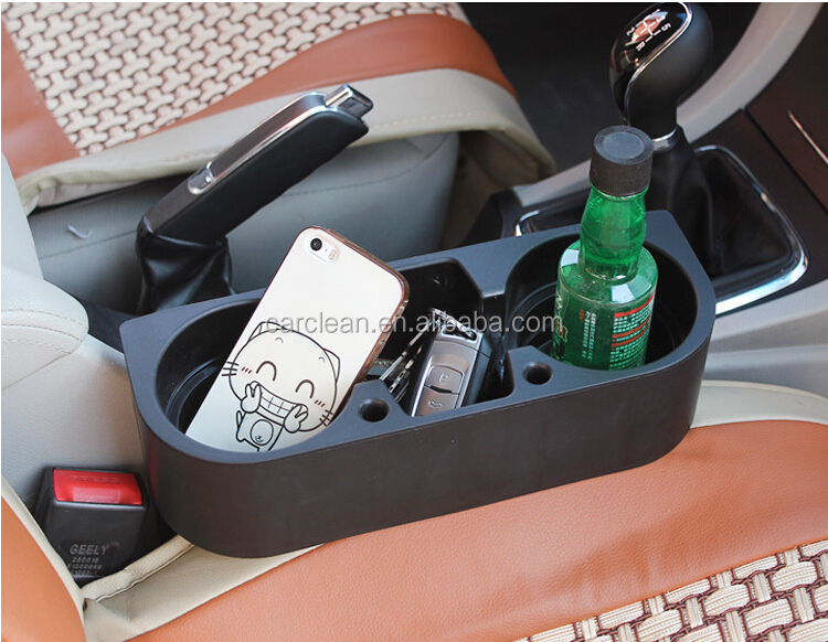 Plastic multi-function Car cup holder for front seat between the arm rest