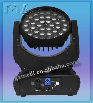 Rgba 36x10w 4-in-1 Rgba Zoom Led Wash Moving Head/ Professional Dj ...