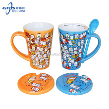 GRS customized promotional ceramic Christmas gift mug