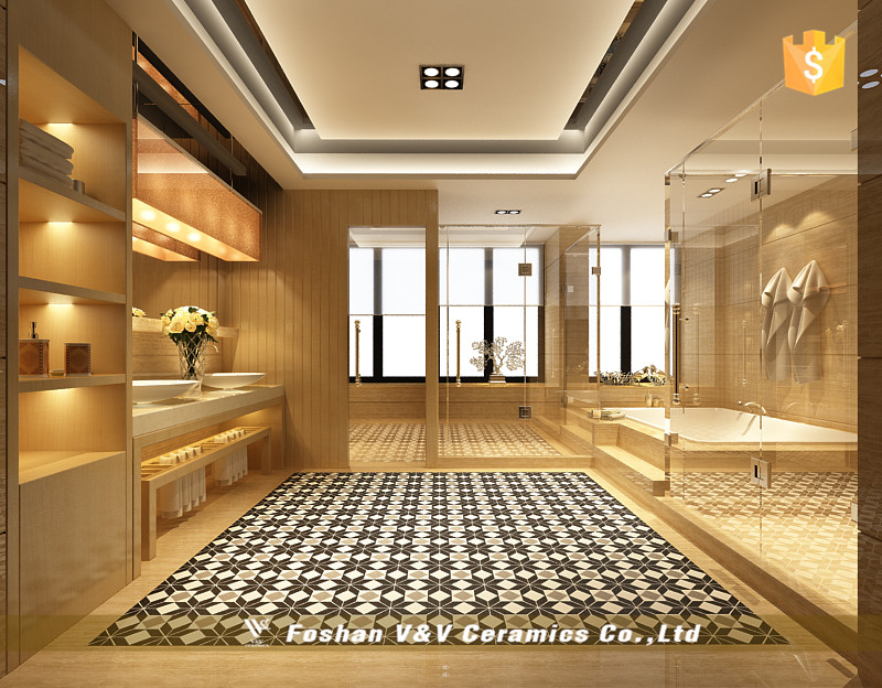 New Design Ceramic Floor Til,Black and White Carpet Tiles