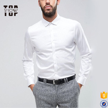 b45a63e8dca2 China factory best price slim fit button down wholesale mens white dress  shirts