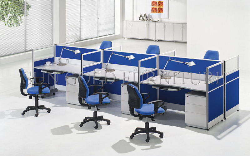 Modern Straight 8 Seats Workstation Office Partition Call