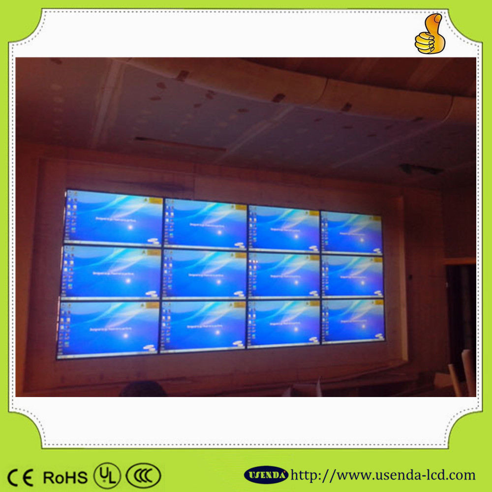 3x3 46inch narrow bezel 5.3mm lcd video wall frameless monitor video wall with 500cd/m2 Brightness