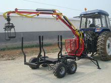 4WD Timber Trailer With Crane