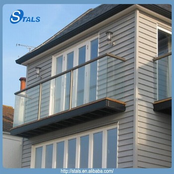 Stals Balustrade Outdoor/balcony Glass Railing Designs/tempered Glass Deck  Railing