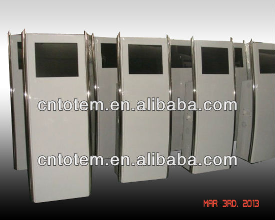 Low cost prefab steel structure portable modern kiosk