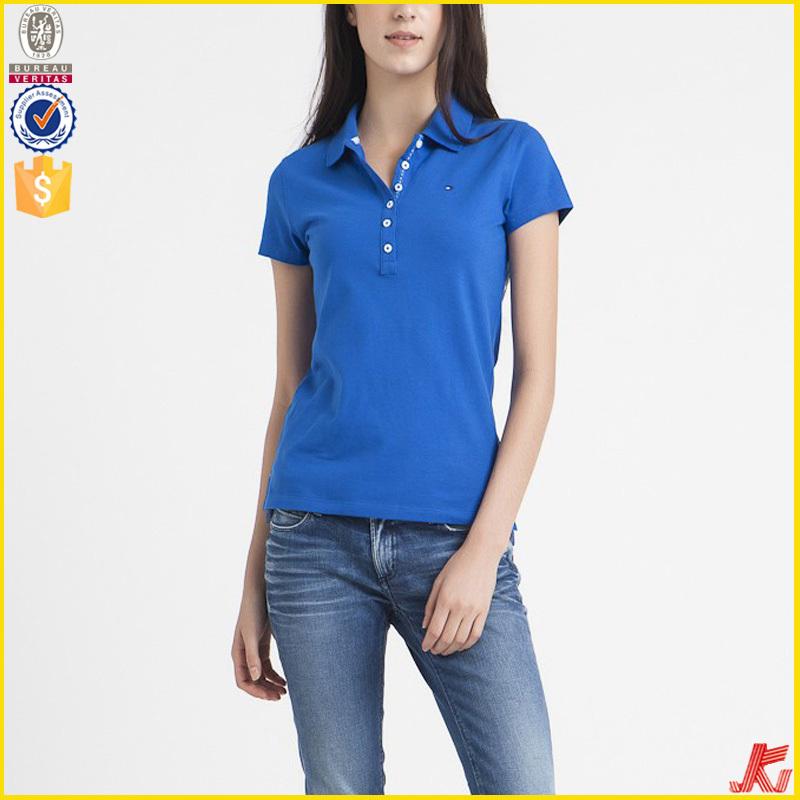 f1ed1a67 plain ladies polo t shirt, blue harajuku cotton polo shirt, ladies casual polo  shirt