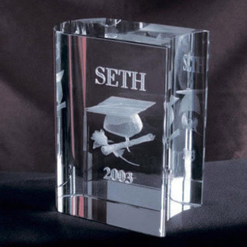 mini crystal book paperweight with customized 3d laser for souvenir gift