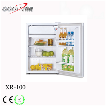 Double Foam Door Mini Fridge Of Two Department With Auto Defrost For Hotel