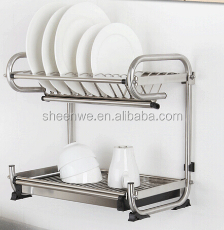 WDJ440 460 Guangzhou Kitchen Wall Hanging Stainless Steel Dish Rack