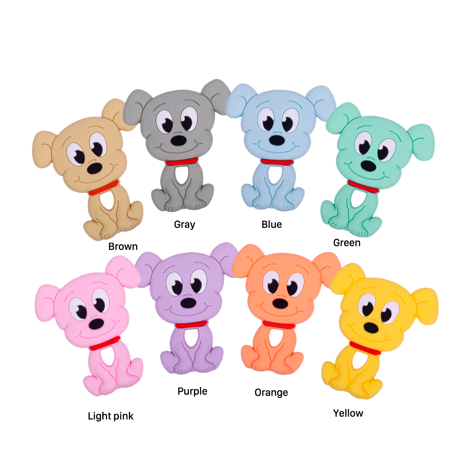 Baby Products Soft Chewable Silicone Coffee Drink Pendant Silicone Baby Teether Sensory For Teething Toys