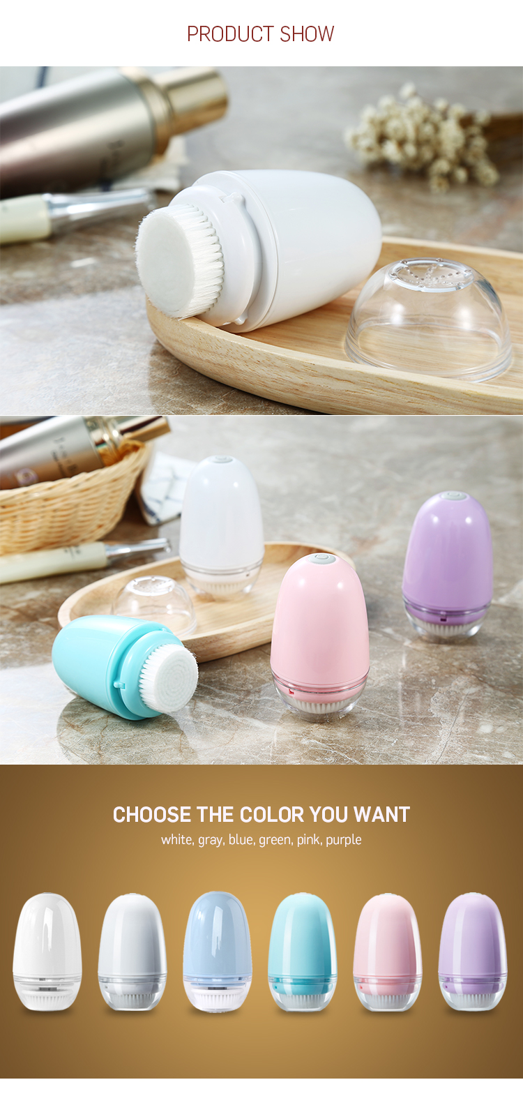 Hot Sale Deep Clean Makeup brush Electric Facial Cleansing Brush