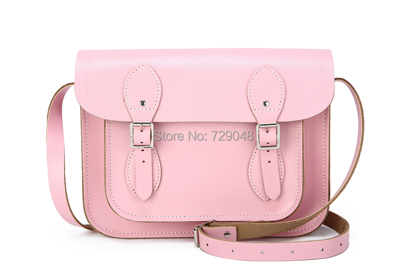 dbd68c5e6454 Buy Light Pink 11  Leather Satchel Pastel Bag Sturdy Leather Cross Body Bag  Handmade Natural Leather Purses Satchel Womens in Cheap Price on Alibaba.com