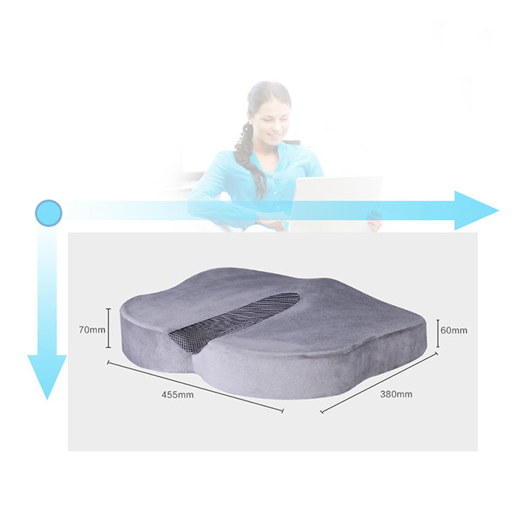 Wholesale custom stadium outdoor seat cushion Environmental Fabric Ergonomic Orthopedic Memory Foam Seat Cushion