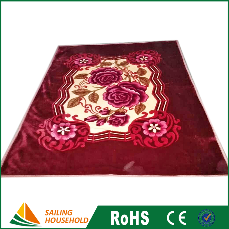 Daily Commodity products luxury blanket, raschel throw blankets, bright vivid color blanket