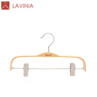 LL830F Free Sample OEM Length 30 cm Children Pants Hanger with Copper Clips
