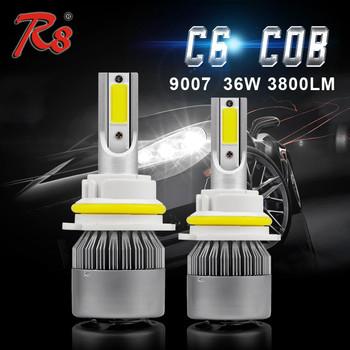 Hot Sell C6 Headlight Bulb 12v 35 35w 9004 9007 Led Headlight Bulb Led 40000 Lumen H4 H13 Buy Headlight Bulb 12v 35 35w 9007 Led Headlight Led 40000