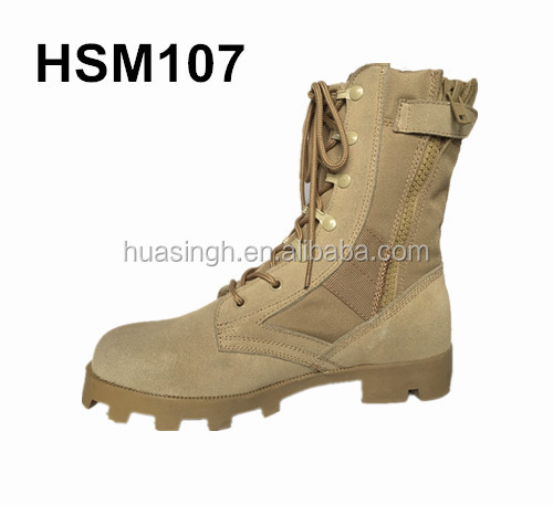 China made wholesale price Altama desert army boots with Panama rubber sole