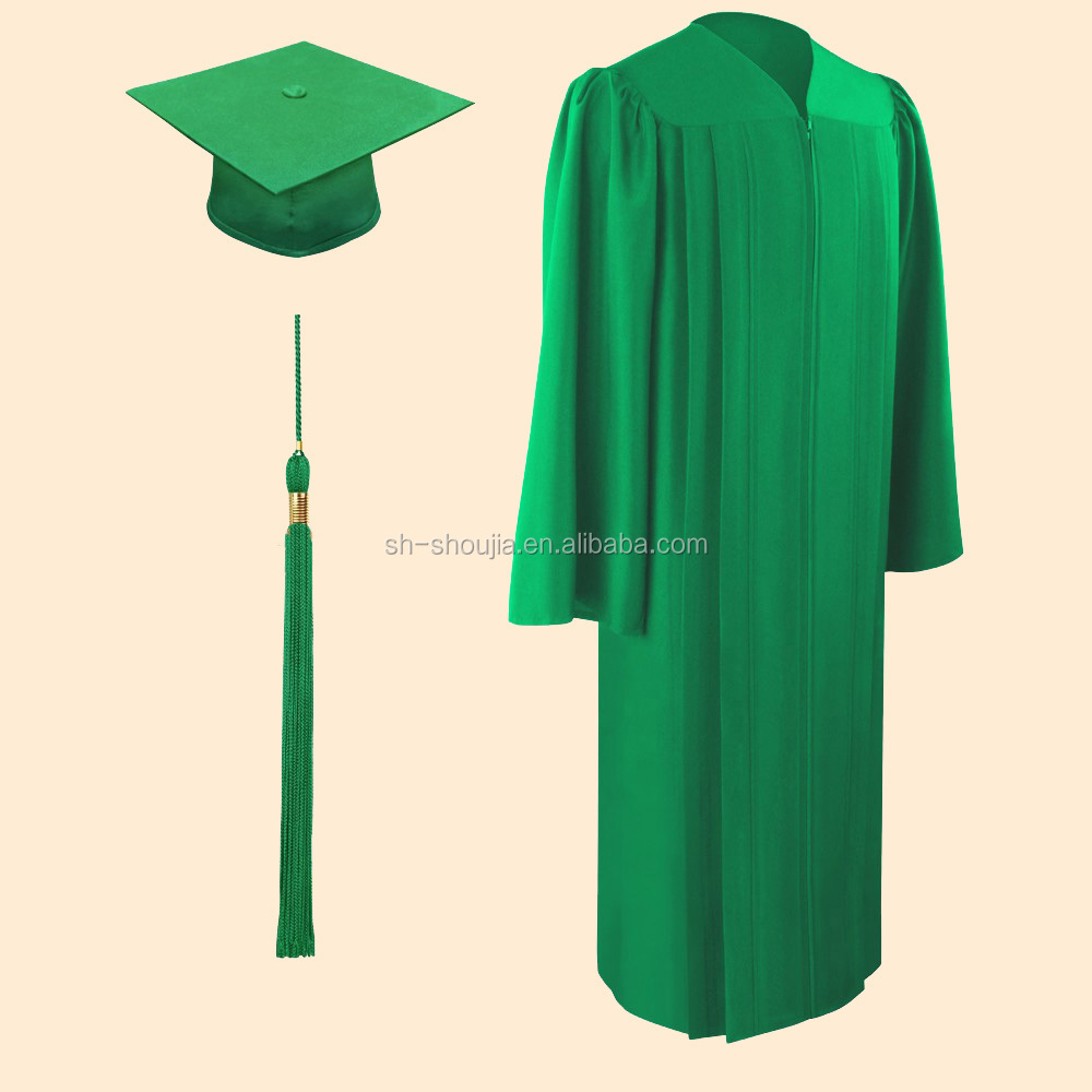 Matte Emerald Green Cap And Gowngraduation Cap And Gownbachelor